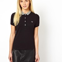 Fred Perry Leopard Tipped Polo Shirt