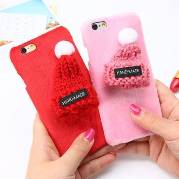Fuzzy Hat Phone case (Scratch/shock proof)