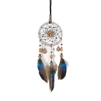 Handmade Small Dream Catcher Shells Dreamcatcher Wind Chimes Car Pendant Wall Hanging Ornaments Home Decor