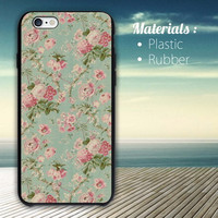 Floral Apple iPhone 4/4S, 5/5S, 5C, 6 Series Hard Plastic Case