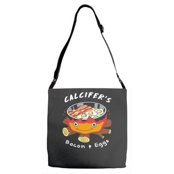 calcifer's bacon and eggs Adjustable Strap Totes