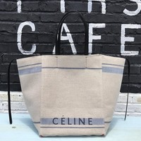 Kuyou Gbt09924 Celine Cabas Book Tote Bag In Canvas 8004