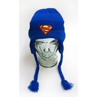 Superman Logo Blue Headphone Laplander Hat
