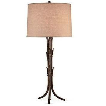 DESSAU HOME Bronze Bamboo Table Lamp