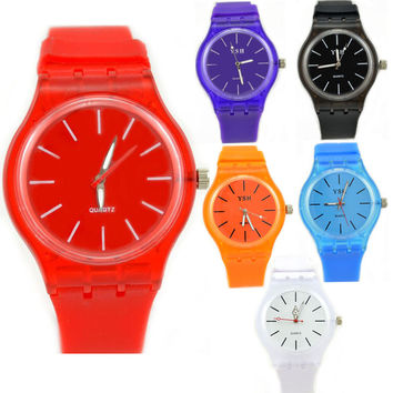 Designer's New Arrival Trendy Awesome Great Deal Good Price Gift Korean Stylish Sweets Transparent Couple Waterproof Watch [6049417473]