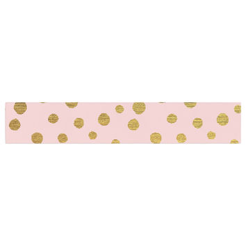 "Nika Martinez ""Golden Dots & Pink"" Blush Table Runner"