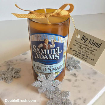 Samuel Adams Cold Snap Bottle Candle