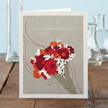 Count Good Blessings Twice, A Positively Green Mother's Day Card