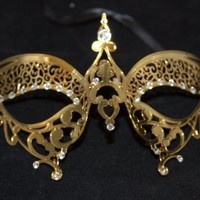 Sexy Venetian Laser Cut Gold Masquerade Party Mask Lady Bug by Kayso International