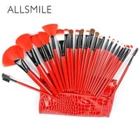ALLSMILE 24 pcs Beauty Makeup brushes set Eye shadow Lip Blush Foundation Powder Brush Tool Kit Pincel Maquiagem Cosmetics Tools