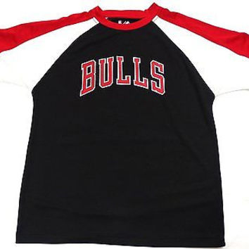 Chicago Bulls Majestic Short Sleeve T SHIRT Youth Size L