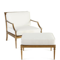Sophia Outdoor Chair and Ottoman