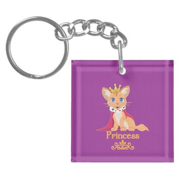 Princess Kitten Keychain