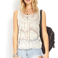 Wanderlust Embroidered Mesh Top