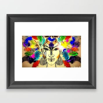 Autumn Rainbow Framed Art Print by violajohnsonriley