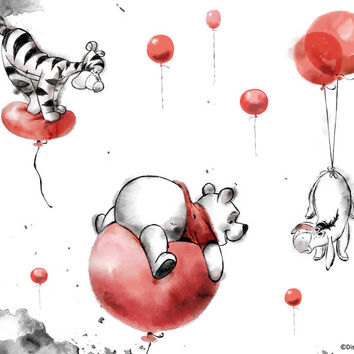 Balloons by Winnie the Pooh | DecalGirl