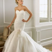 Angelosshop Strapless wedding dress  mermaid style by Angelosshop
