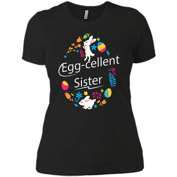 Family Matching Easter Outfit For Sister Next Level Ladies Boyfriend Tee