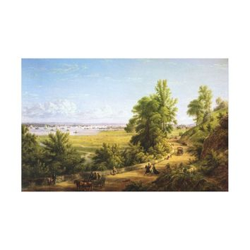 Bay of New York from the Heights of Hoboken Canvas Print