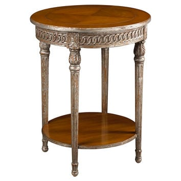 "French Heritage, Avallon 24"" Gueridon Side Table, Pecan, Standard Side Tables"