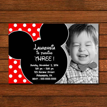 Mickey and Minnie Mouse Baby Invitation Invitation