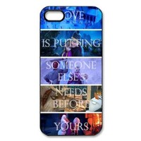 Latest Disney Cartoon Frozen Disney Princess Elsa and Princess Anna, Olaf Hard Plastic Back Protective case for iphone 5, 5s