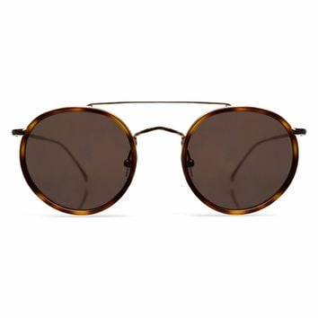 Illesteva Allen 49mm Havana Gold Sunglasses / Grey Flat Lenses