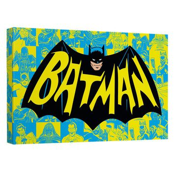 Batman Classic Tv - Classic Tv Show Logo Canvas Wall Art With Back Board