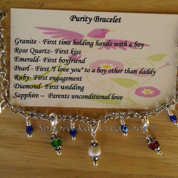 Purity Charm Bracelet With Detachable Charms by SonoraKayCreations