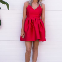 Joi Flare Red Dress