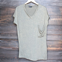 oversize distressed tee - vintage acid wash