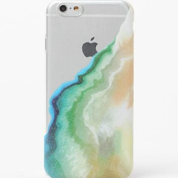 LA Hearts Emerald Liquid Glitter iPhone 6/6s Case - Womens Scarves - Green - One