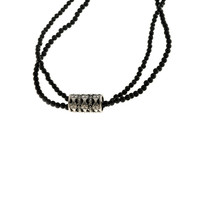 All The World's A Stage Sterling Silver Onyx Necklace