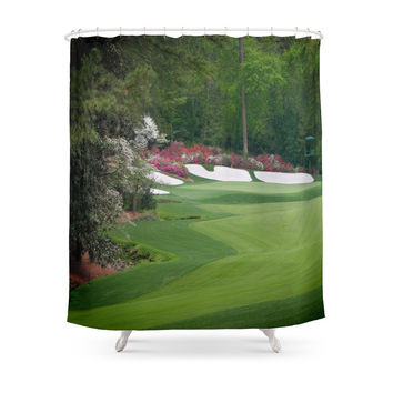 Society6 Augusta Amen Corner Golf Shower Curtain