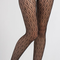 Peacock Fishnet Tights