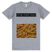 fry day tee-Unisex Athletic Grey T-Shirt