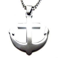 Anchor Metal Cut Out Necklace [Jewelry]