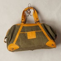 Patton Leather Weekender by Anthropologie Khaki One Size Bags