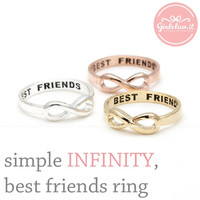 girlsluv.it - simple INFINITY - best friends ring, 3 colors