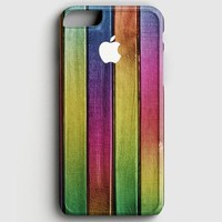 Colorful Wood Background iPhone 7 Case