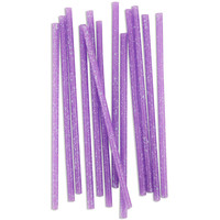 Skinny Lavender Glitter Birthday Candles