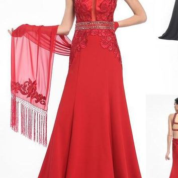 Sue Wong Long Evening Gown Prom Dress Formal
