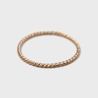Thin Gold Rope Ring