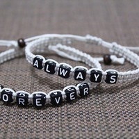 lovers bracelet,His and Hers bracelet,Boyfriend girlfriend jewelry,Anniversary gifts = 1929664964