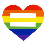 Rainbow Heart Equal Symbol Sticker