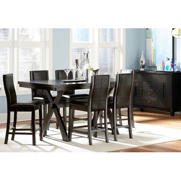 Homelegance Rigby 8 Piece Counter Height Dining Room Set w/ X-Base