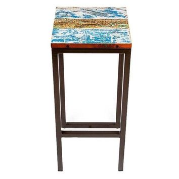 "Pre-owned Fin & Tonic 30"" Reclaimed Wood Bar Stool"