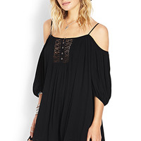 Cold Shoulder Peasant Dress
