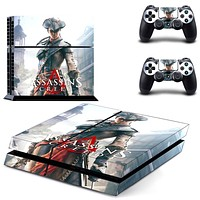 ASSASSINS CREED Vinly PS4 Skin Sticker For PS4 PlayStation 4 Console and 2 Controller skins