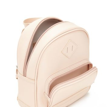 Faux Leather Mini Zip Backpack